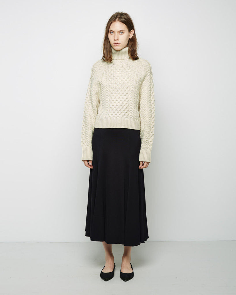 Carrine Cropped Turtleneck