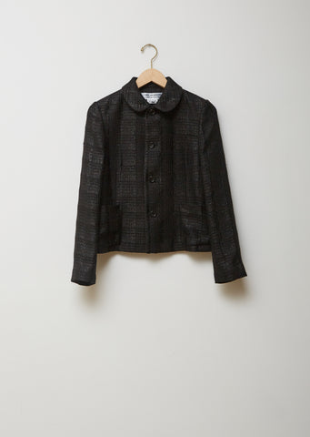 Rayon Polyester Check Cutwork Shirt
