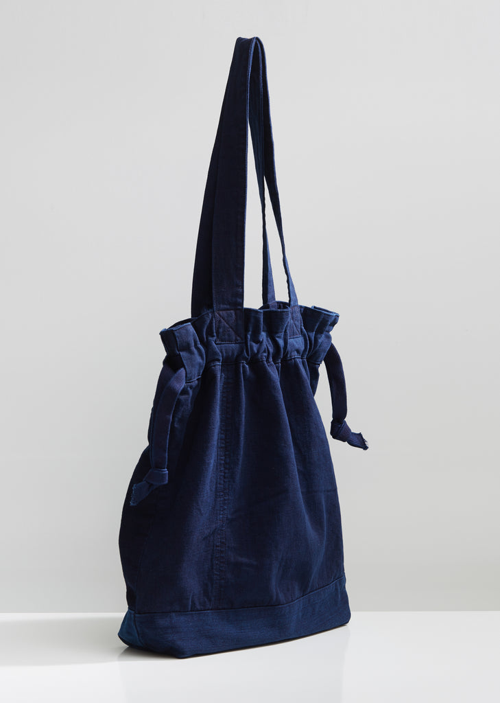 Indigo Hand Dyed Denim Patchwork Tote