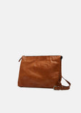 Kusna Brown Leather Shoulder Bag