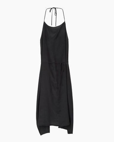 Silk Charmeuse Apron Dress