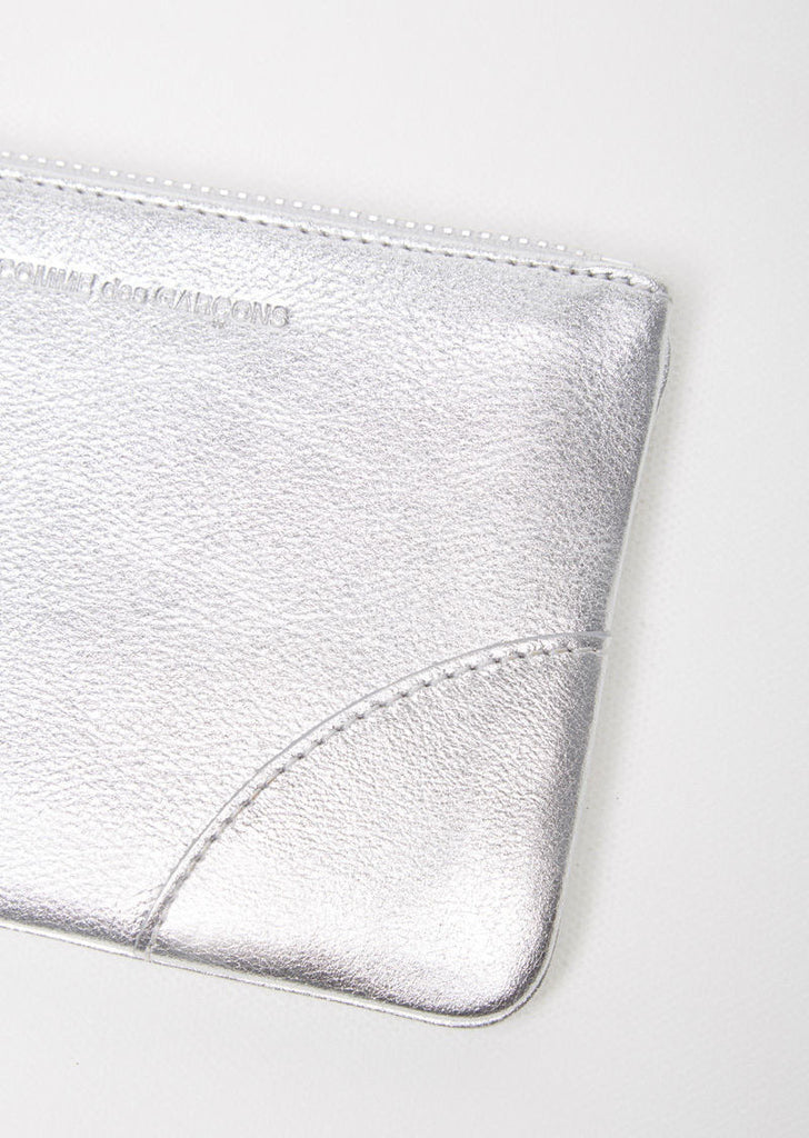 Silver Mini Zip Pouch