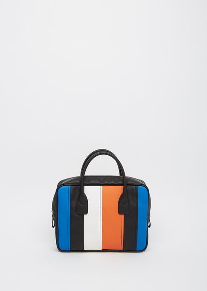 Colorblocked Top-Handle Bag