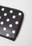 Polka Dot Half Zip Wallet