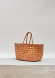 Bamboo Triple Jump Small Basket Bag