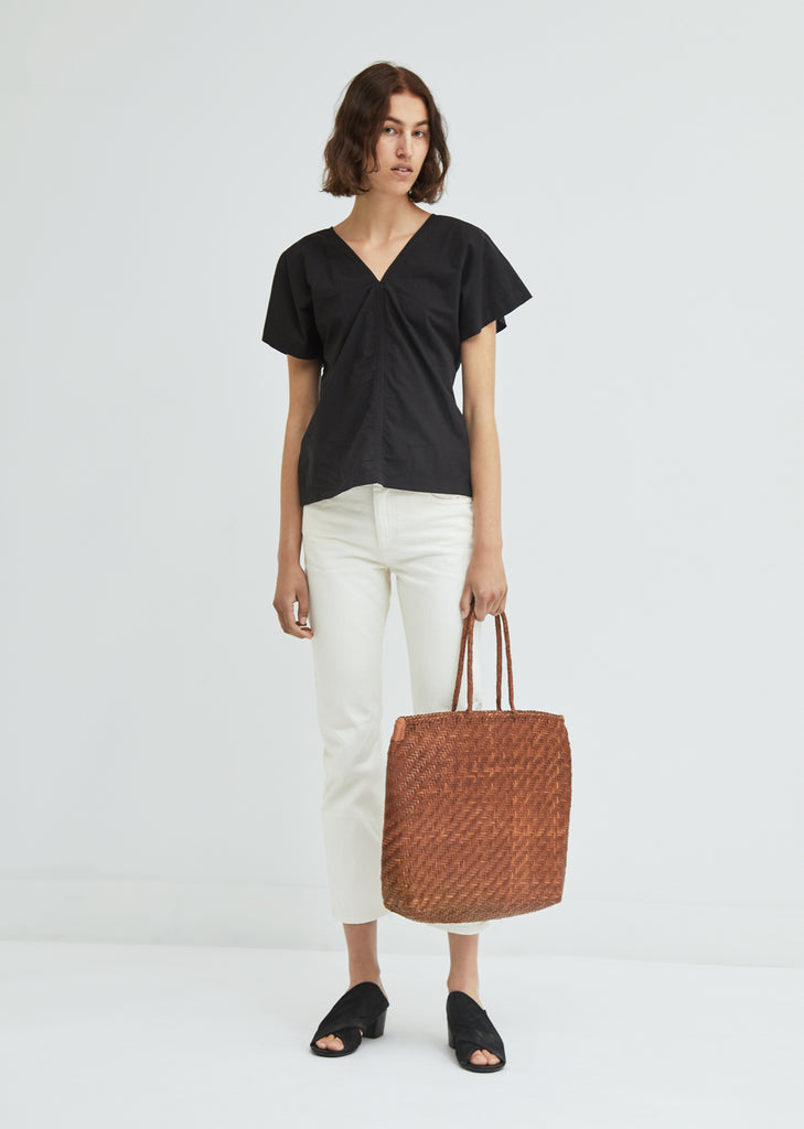 Buffalo Woven Leather Shopper