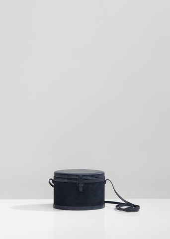Lizard Suede Round Trunk Bag