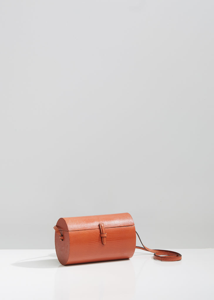 Lizard Oval Trunk Bag