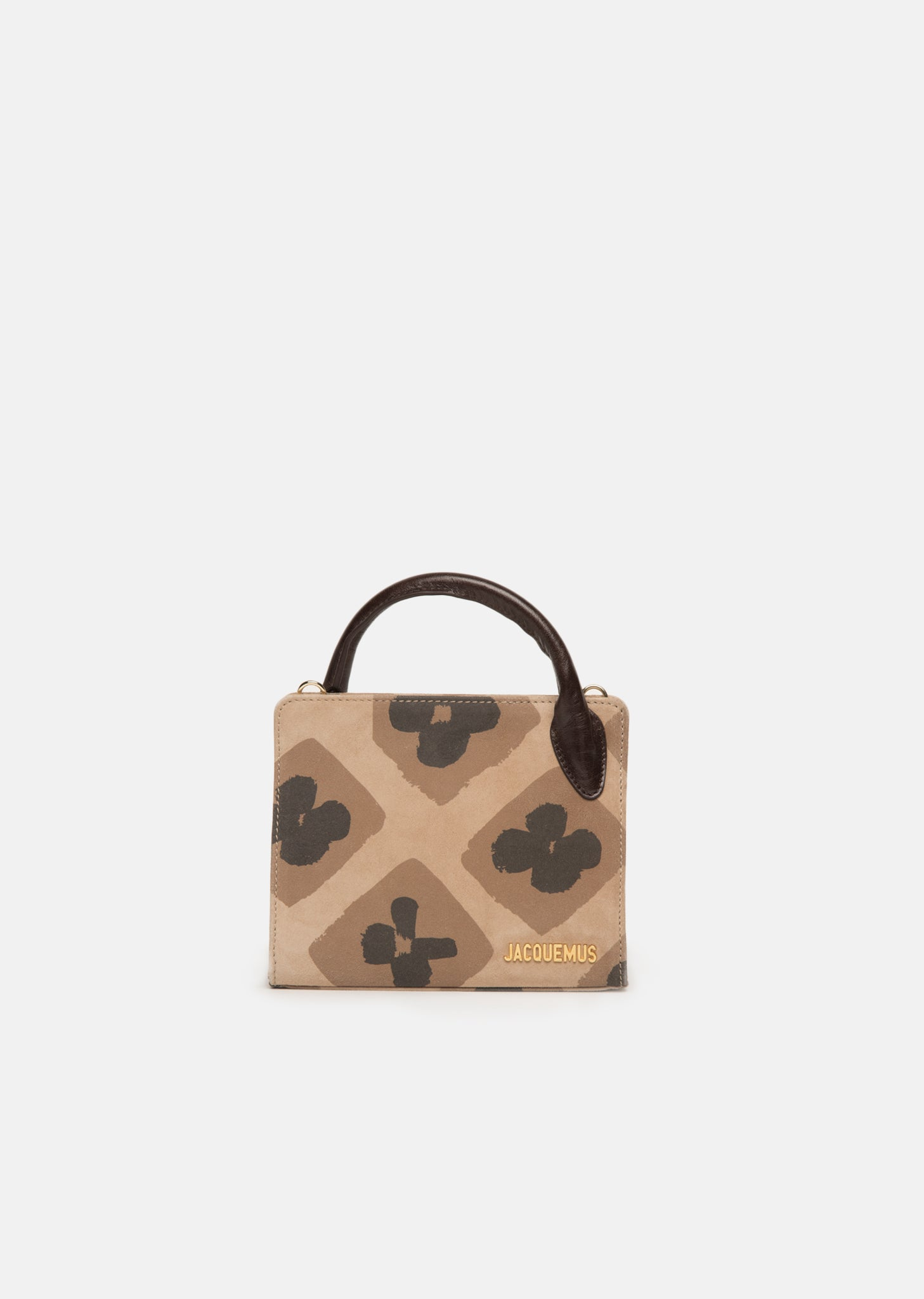 Bahia Bag in Printed Brown Suede Jacquemus Clearance Store Sale Online i0LdCK