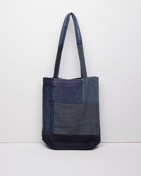 KAPITAL Kogin Tweed Patchwork Tote Bag La Garconne