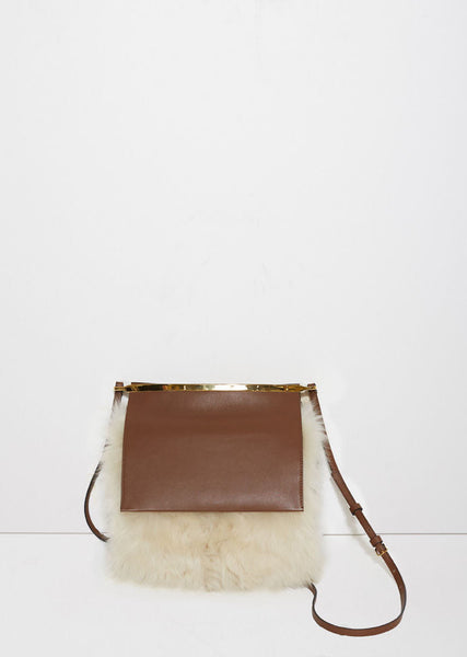 Marni Shearling Shoulder Bag La Garconne