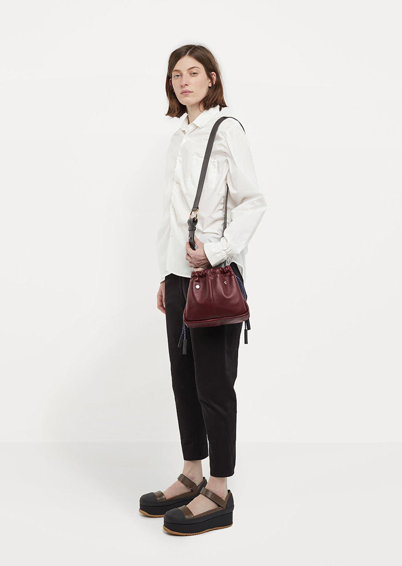 Ruched Petite Shoulder Bag