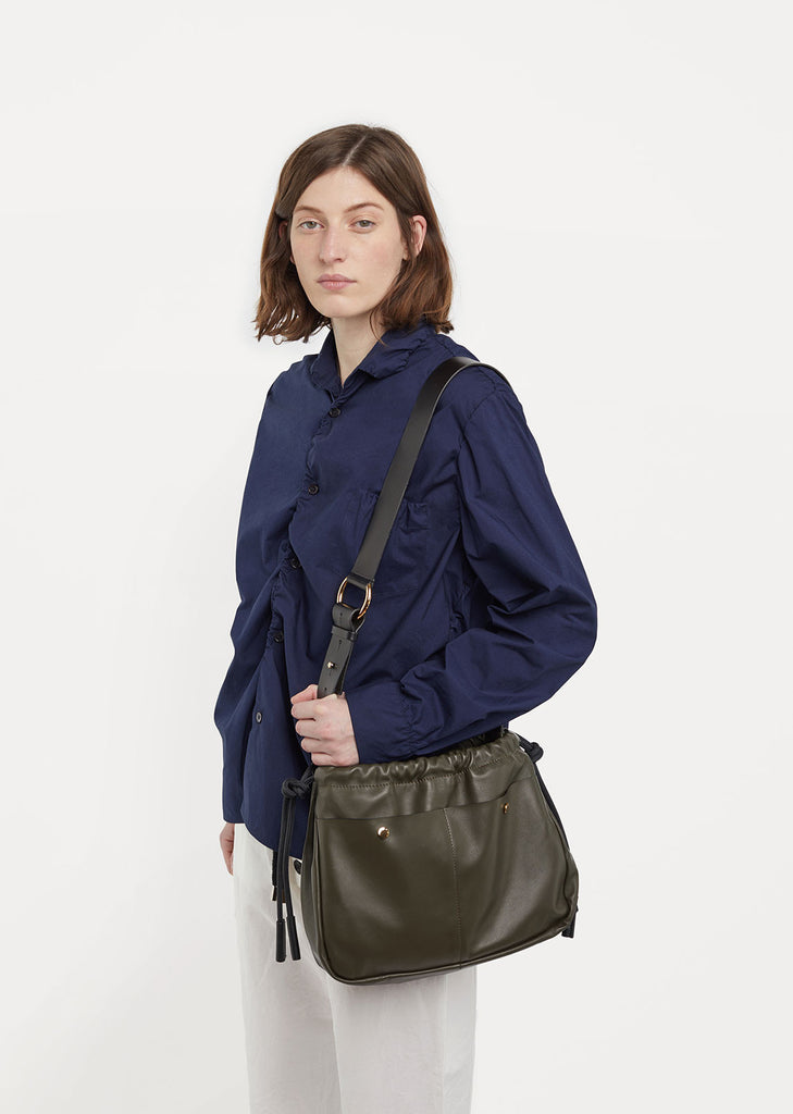 Ruched Bandoleer Bag