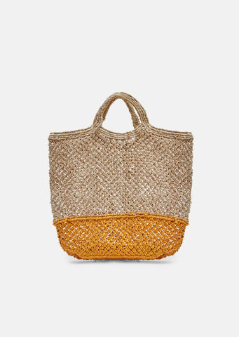Two Tone Macrame Jute Bag