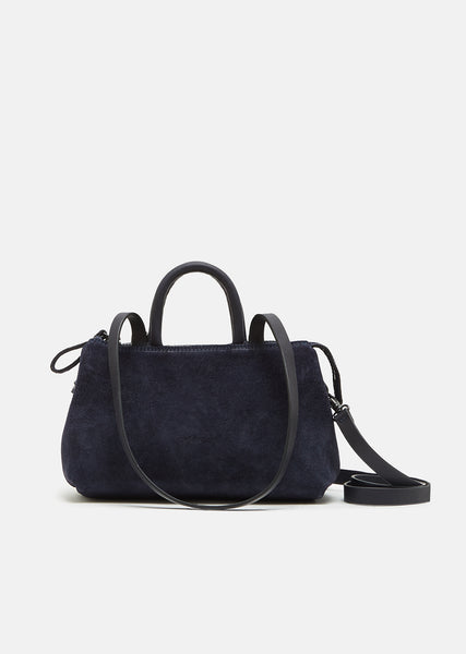 Mini Orizzontale Distressed Suede Shoulder Bag