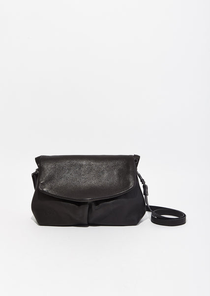 Puntina Flap Leather Shoulder Bag