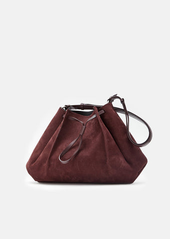 Nabuk Drawstring Shoulder Bag