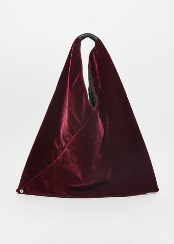 Velvet Triangle Tote Bag