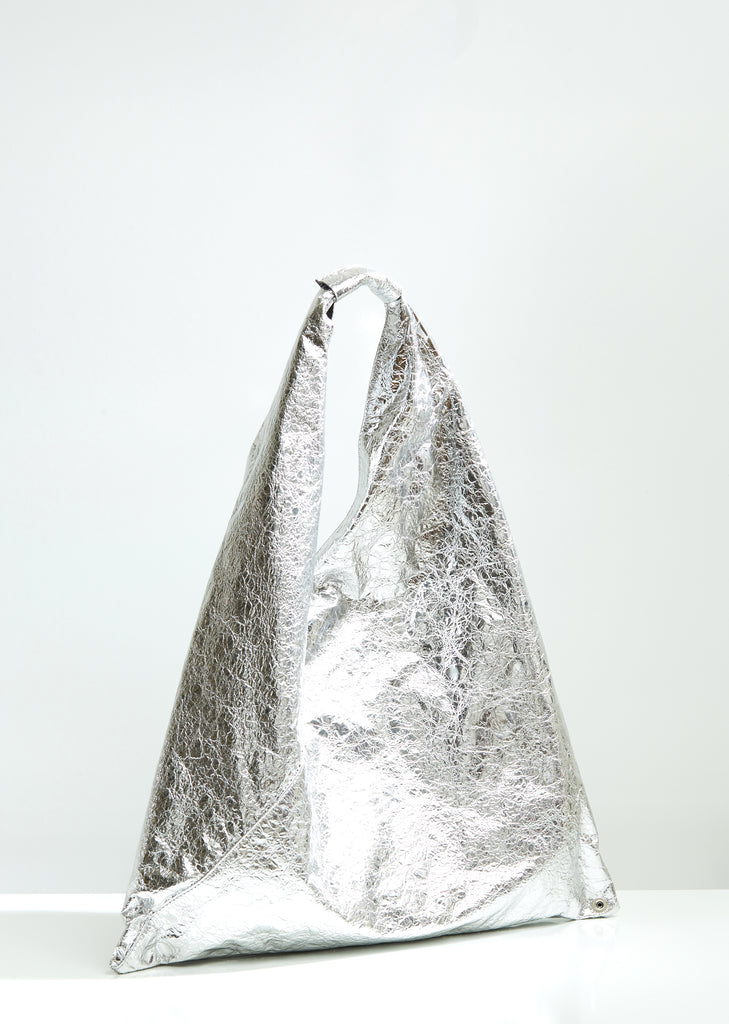 Foiled Silver Triangle Bag