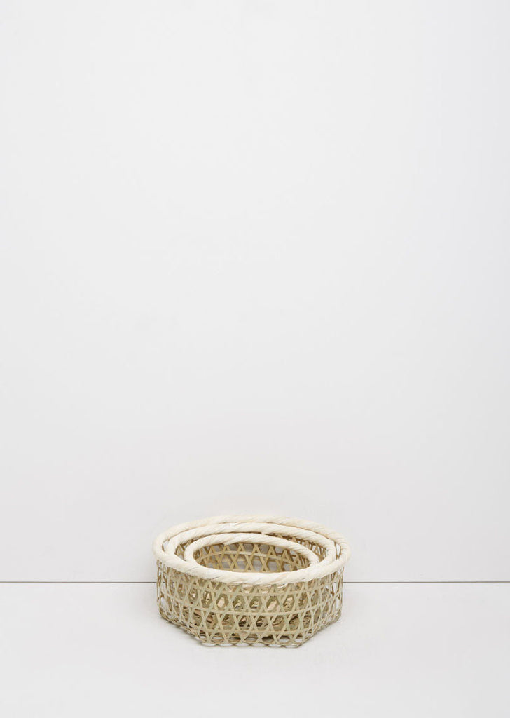 Hexagonal Bamboo Basket Set
