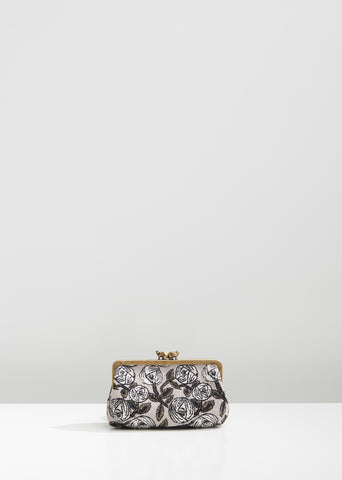 Rosy Floral Pouch
