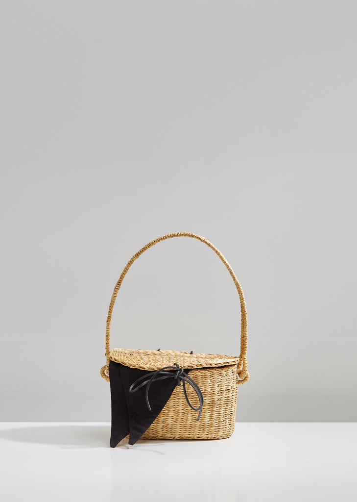 Mini Jeanne Flor Straw Basket Bag
