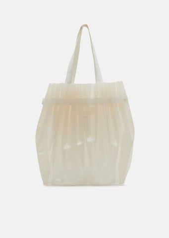 Pleated PVC Large Tote
