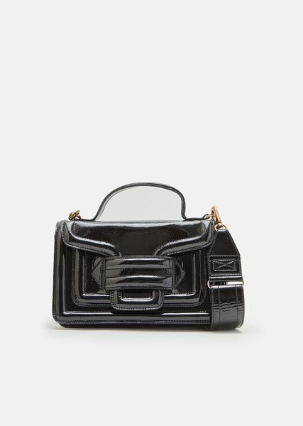 Alpha Plus Patent Leather Handbag
