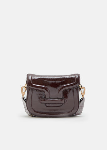Mini Alpha Ville Patent Shoulder Bag