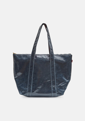 Vada Lacquered Zip Tote