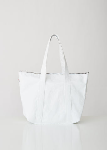 Vada Embossed Faux Leather Tote Bag