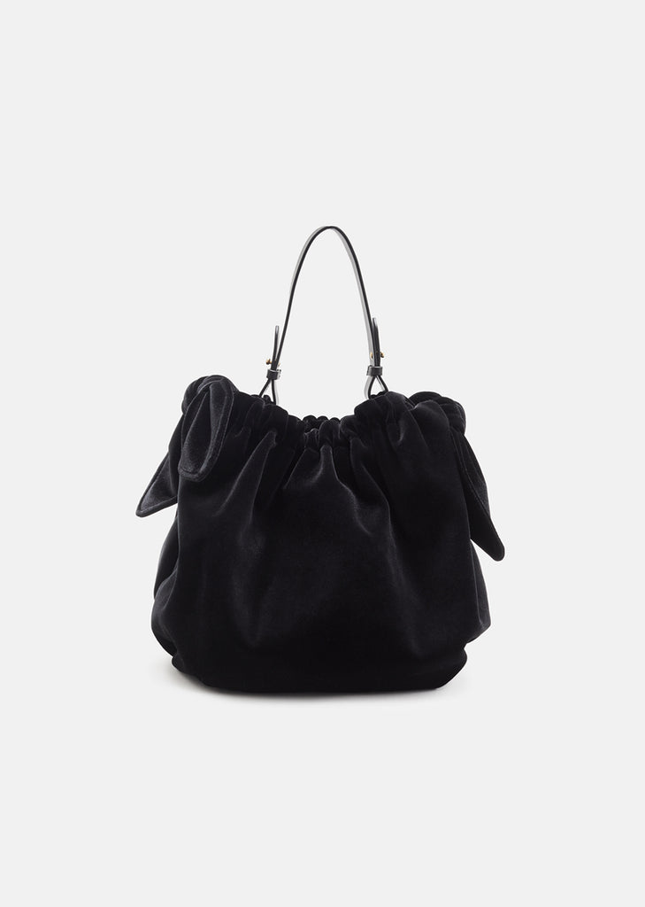 Double Bow Bonded Velvet Bag