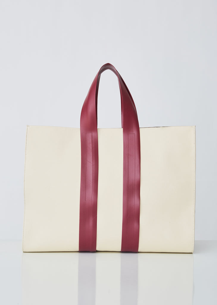 Classic Canvas Bag With Leather Piping