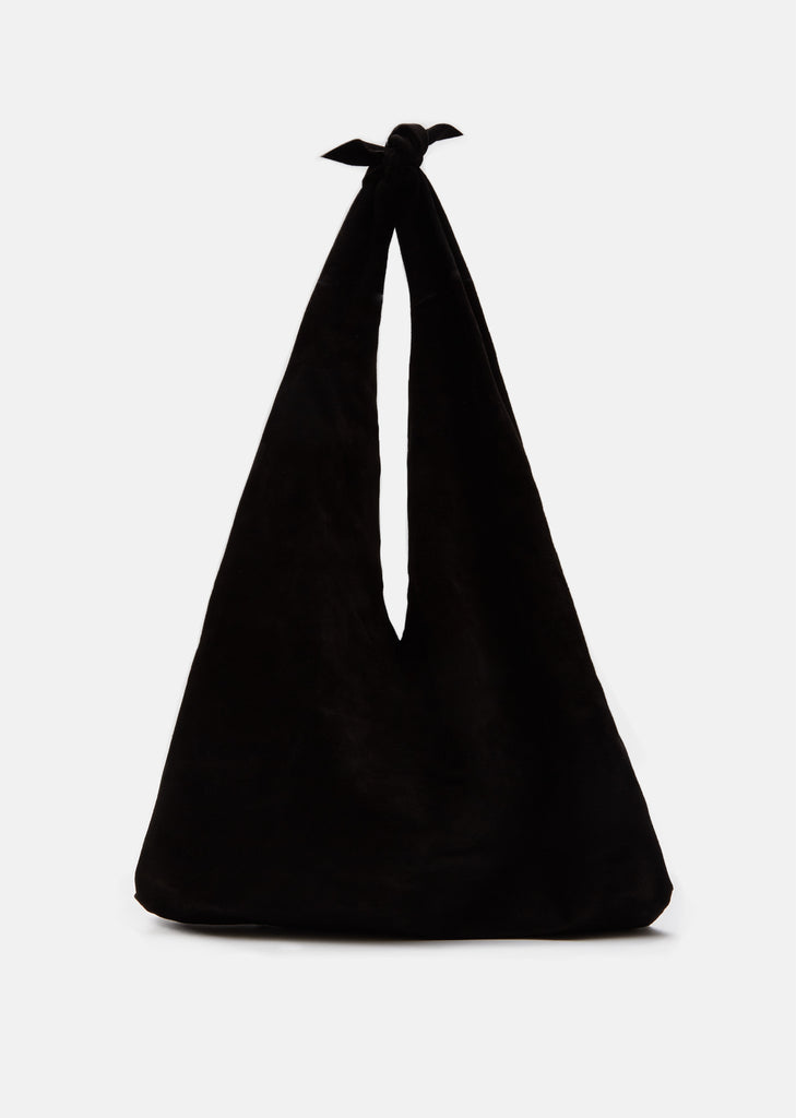 Suede Bindle Bag