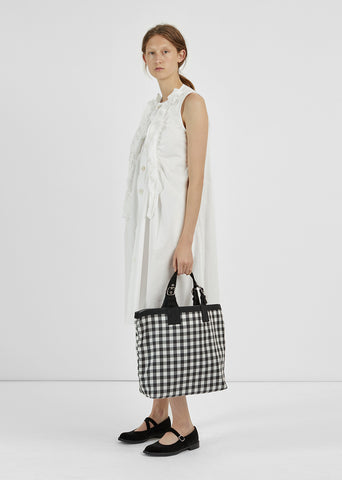 Nylon Gingham Check Bag