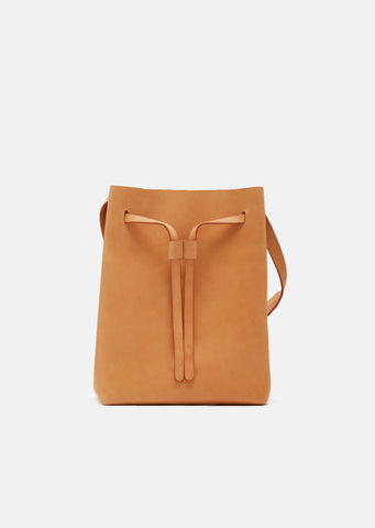 Vegetable Tanned Drawstring Hobo Bag