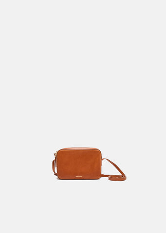 Vegetable Tanned Double Zip Crossbody