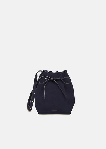 Suede Mini Bucket Bag