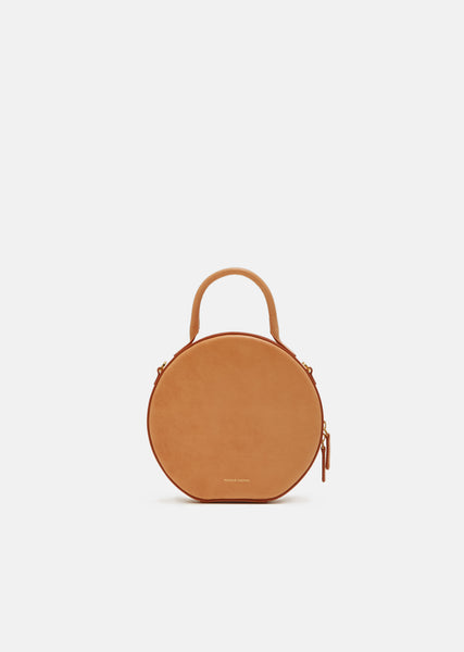 Vegetable Tanned Circle Crossbody Bag