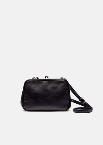 Leather Clasp Pochette
