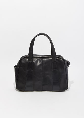 Combi Leather Boston Bag
