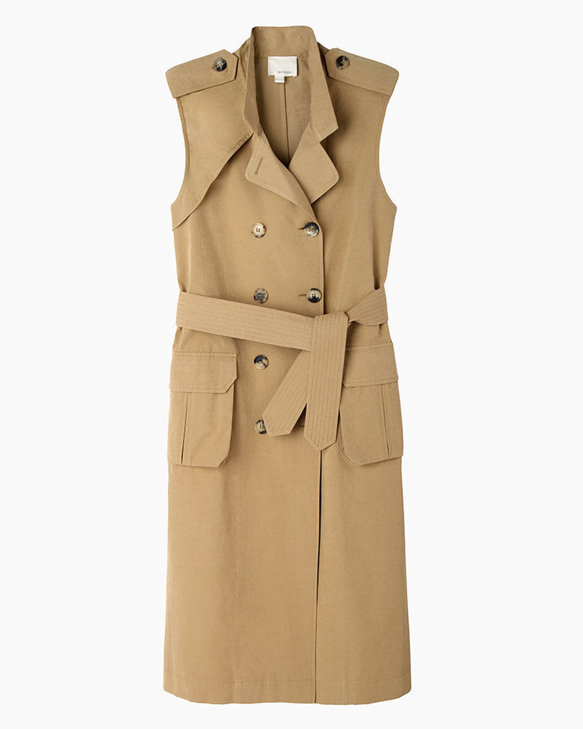 Coated Sleeveless Trench