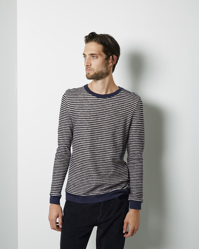 Loop Stripe Sweatshirt