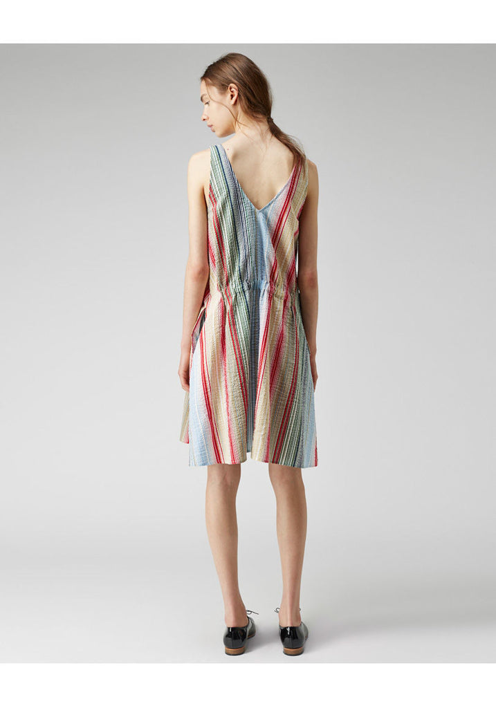 Seersucker Stripe Dress  - CXL
