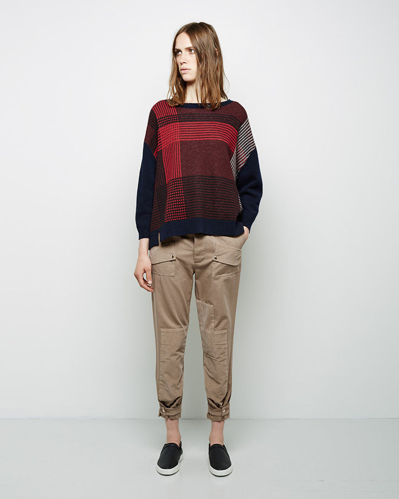 Slouchy Patchwork Chino