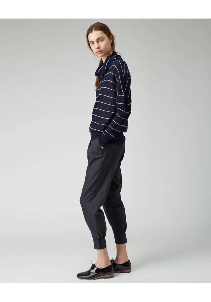 Striped Cashmere Turtleneck - CXL