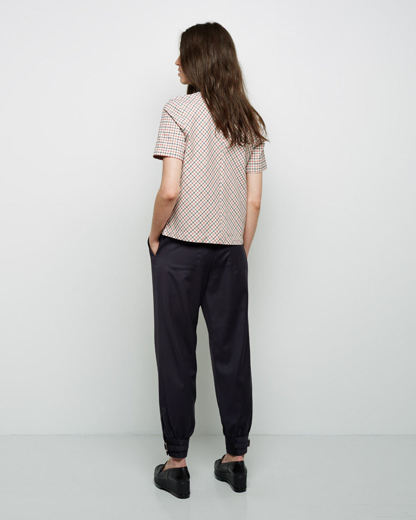 Windowpane Check T-Shirt