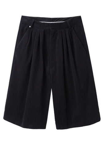 Pleated Bermuda Shorts