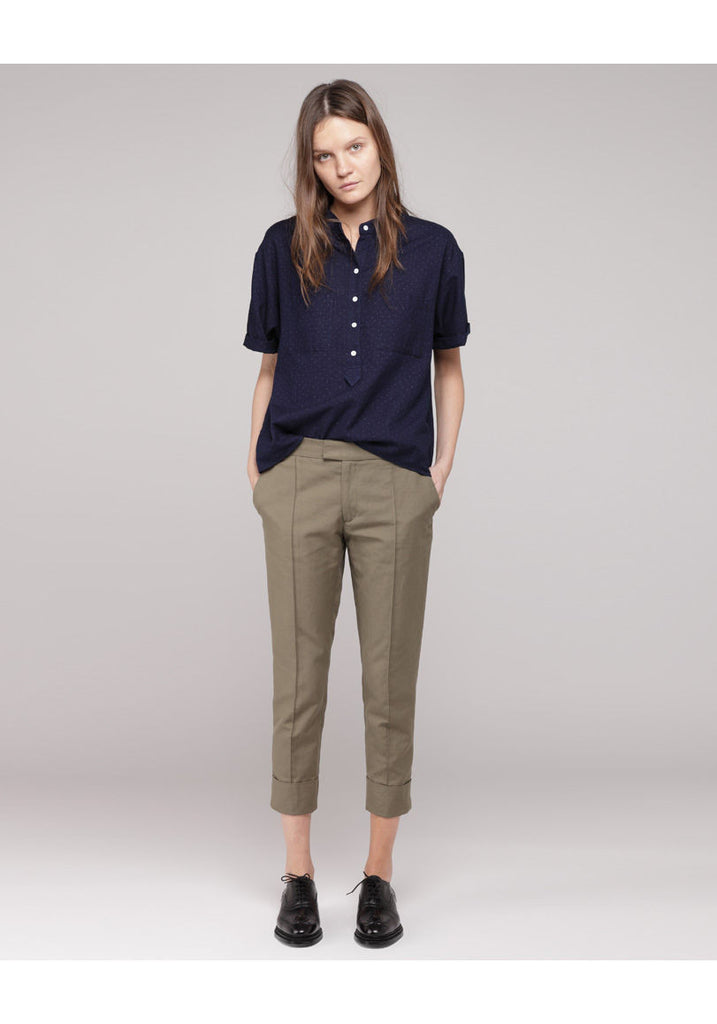 Cuffed Canvas Pant