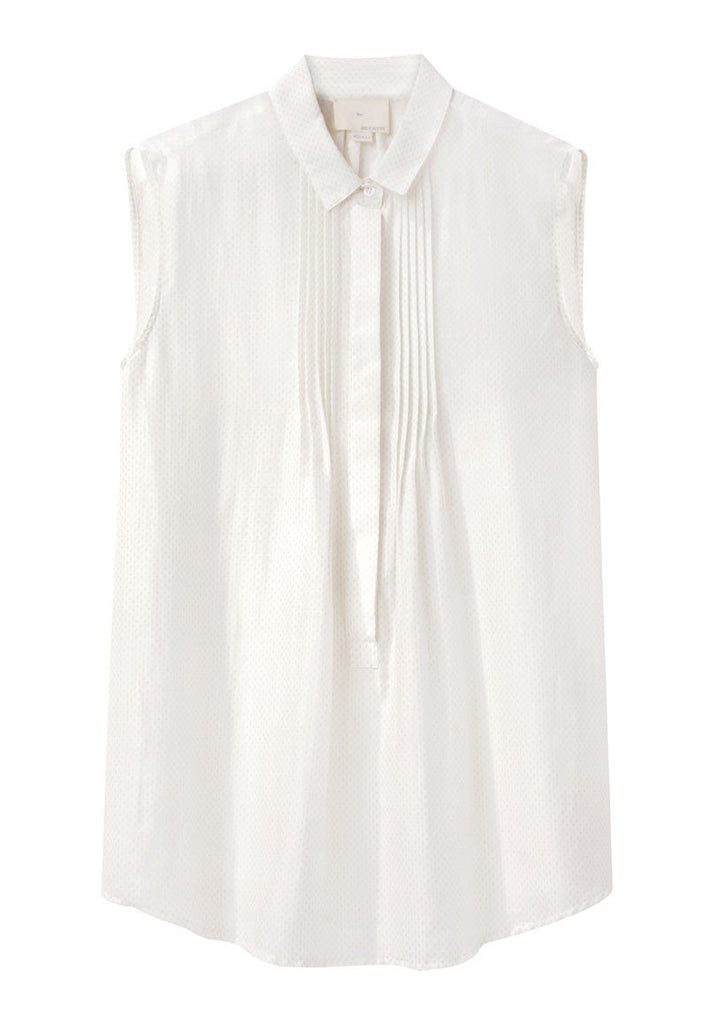 Pintuck Sleeveless Top